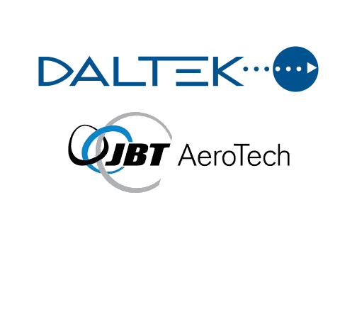 Daltek and JBT AeroTech logos